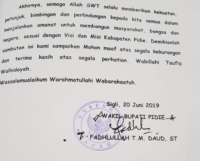 Anggota DPRD Protes Ada Stempel Gubernur Aceh di LKPJ Kabupaten Pidie (212203)