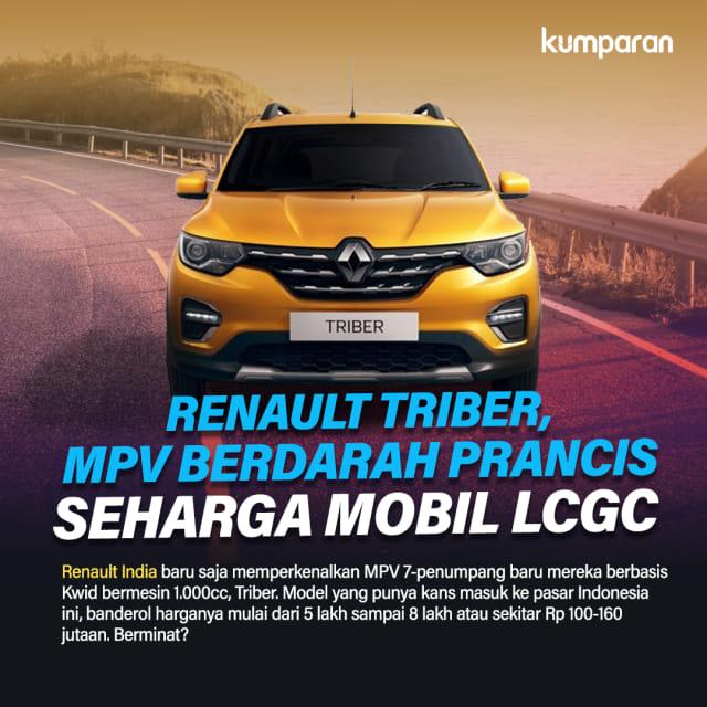 Mobil Murah Renault Triber Sudah Bisa Pesan, Tanda Jadinya Rp 5 Juta (615757)