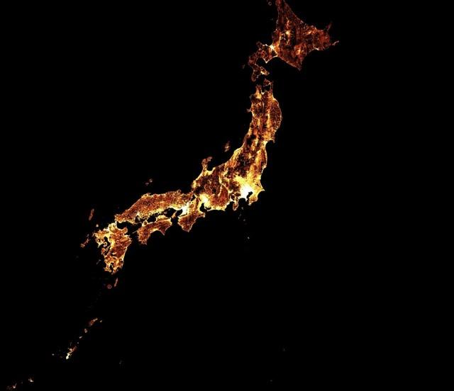 Gambar satelit Facebook AI peta Jepang