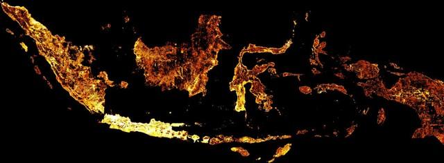 Gambar satelit Facebook AI peta Indonesia