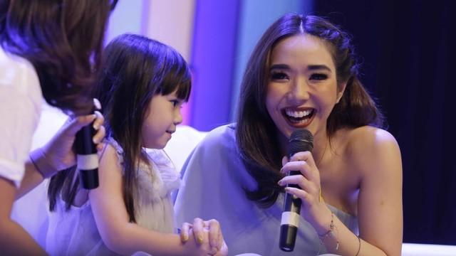 Gisella Anastasia dan Gempi saat talkshow di acara Wonder Fest di JCC