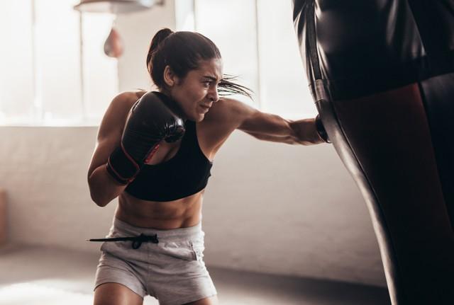 Ilustrasi olahraga kickboxing