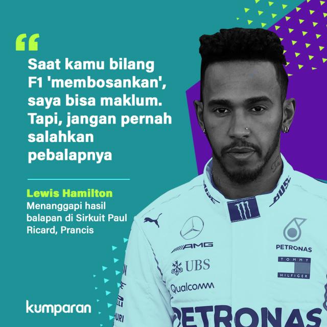 Krispi, Quote Lewis Hamilton
