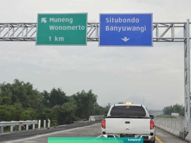 Caption: Ruas tol Pasuruan-Probolinggo mulai berbayar pada Rabu, 26 Juni 2019 pukul 00.00 WIB