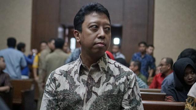 Mantan Ketua Umum PPP Romahurmuziy di Pengadilan Tipikor
