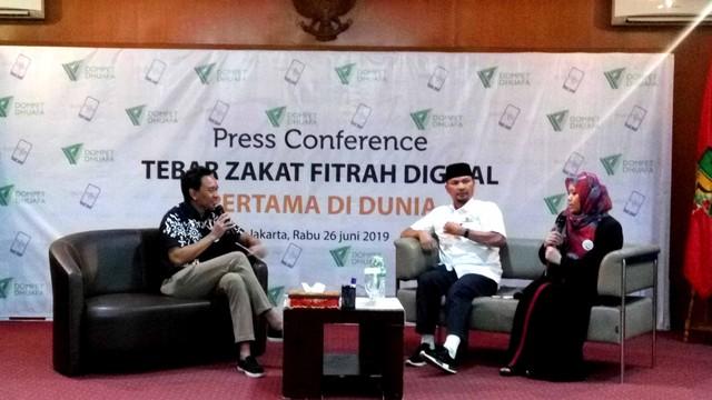 Konferensi Pers Dompet Dhuafa dan Duithape untuk Penyaluran Zakat Digital