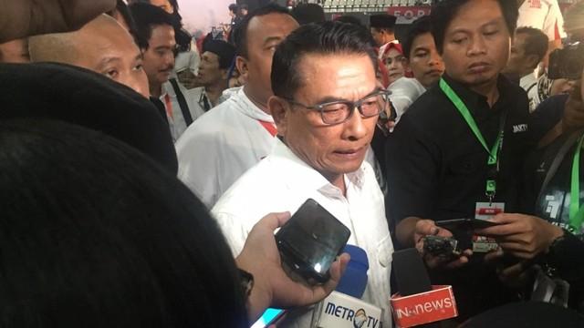 Kepala Staf Kepresidenan Moeldoko di acara halal bi halal relawan Jokowi