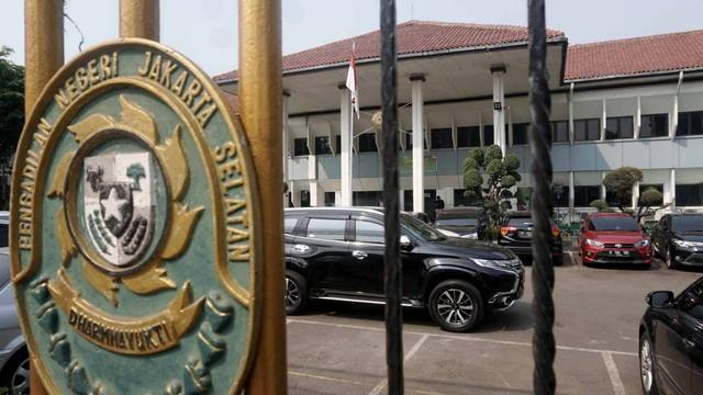 Suasana di Pengadilan Negeri Jakarta Selatan