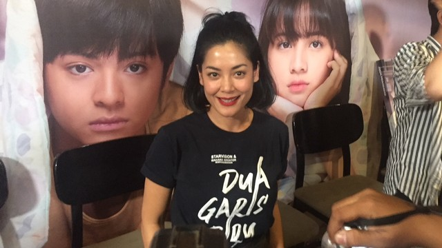 Konferensi Pers Film 'Dua Garis Biru' , Lulu Tobing