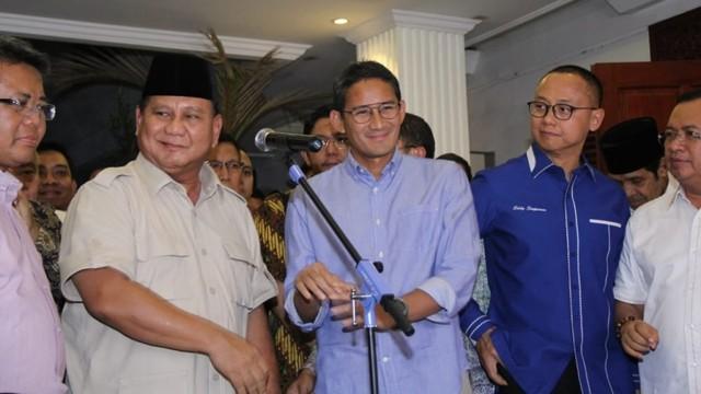 Prabowo Subianto dan Sandiaga Uno di Kertanegara