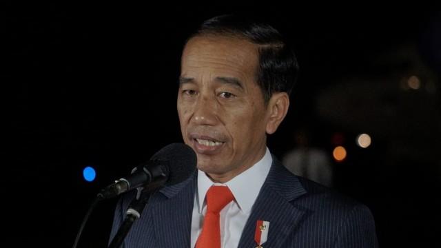 Presiden Joko Widodo di Bandara Halim