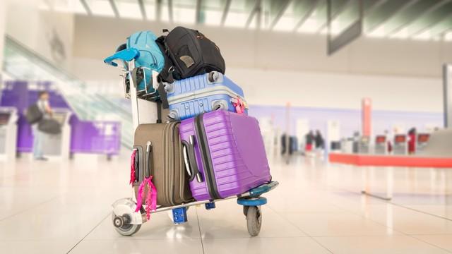 KONTEN SPESIAL, JASA TITIP, Ilustrasi koper di bandara