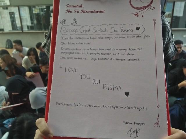 Surat Cinta Untuk Kesembuhan Wali Kota Risma Dari Para