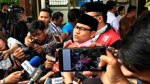 Ketum PKB Muhaimin Iskandar di Kantor KPU.