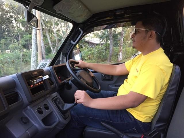 Posisi mengemudi new Suzuki Carry