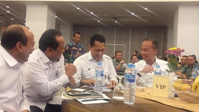 Budi Waseso bertemu dengan Menteri Sosial Agus Gumiwang Kartasasmita