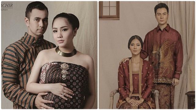 Pemotretan pasangan selebriti dengan busana khas Jawa