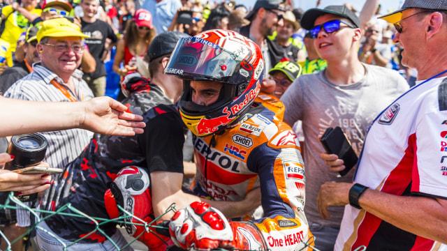 Marc Marquez di Sachsenring