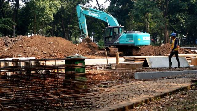 Proyek MRT fase II di Taman Monas
