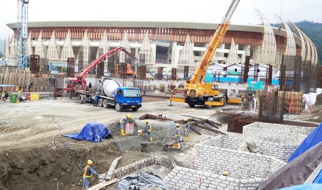 Pembangunan sejumlah fasilitas di Stadion Utama Papua Bangkit di Kabupaten Jayapura-Foto Imelda.jpg