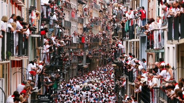 Festival San Frmin di Spanyol.