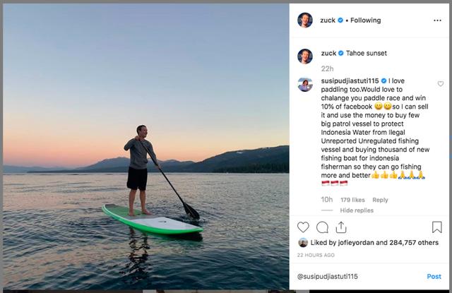 Wawancara Menteri Susi Soal Tantangan Main Paddling ke Mark Zuckerberg (401445)