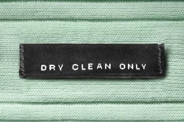 label pakaian hanya untuk dry cleaning