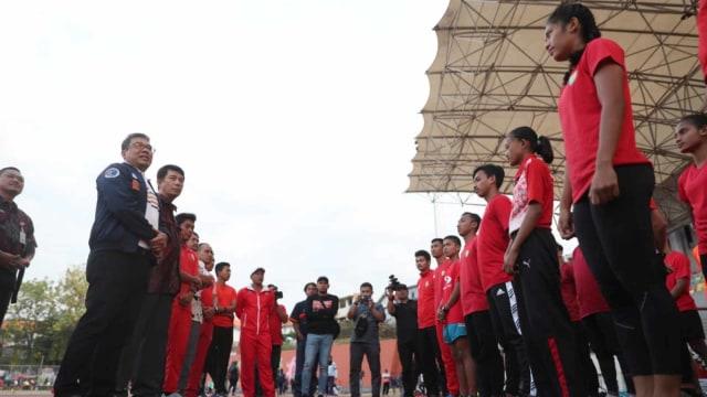 Staf Kemenpora meninjau persiapan atlet Indonesia jelang ASEAN School Games 2019