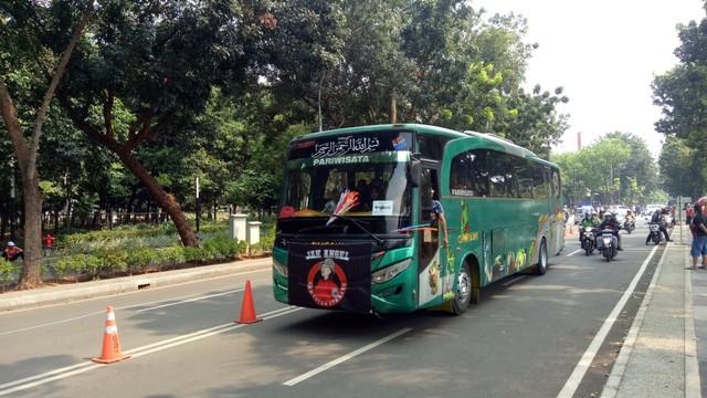 Para Jakmania di Stadion Utama Gelora Bung Karno.