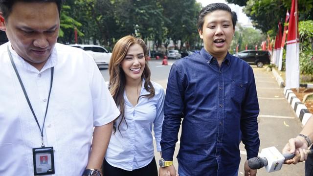 Rey Utami datangi Polda Metro Jaya
