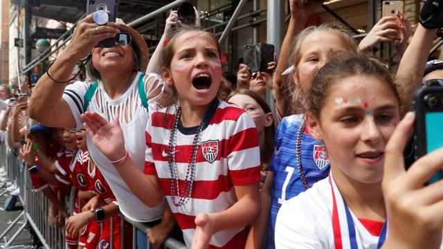 Parade Juara Dunia Timnas Putri Amerika Serikat
