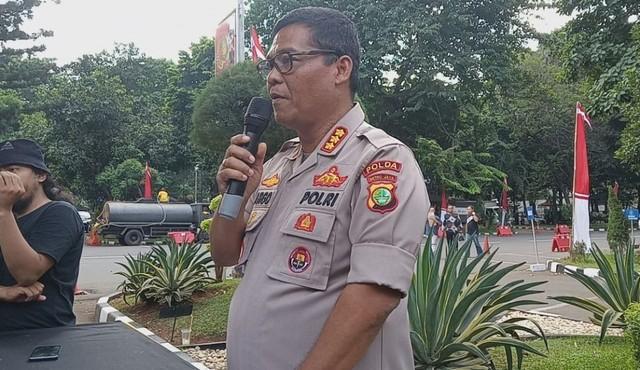Kabid Humas Polda Metro Jaya Argo Yuwono di Direskrimsus Polda Metro Jaya, Kamis (11/7).