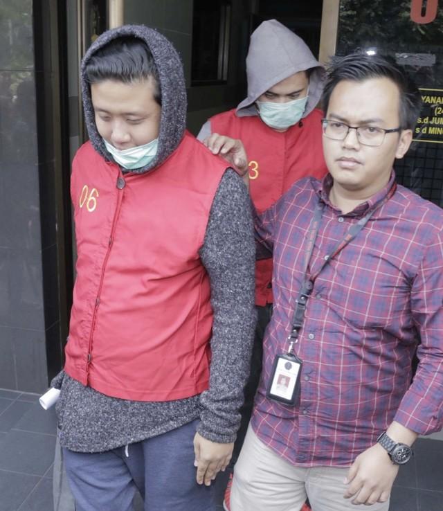 Pablo, Rey Utami, Galih Ginanjar di Polda Metro Jaya (NOT COVER)