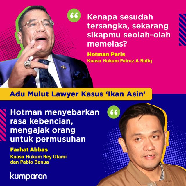 Quote Versus Adu Mulut Lawyer Kasus 'Ikan Asin'