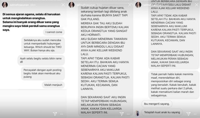 Instagram Story Salmafina Sunan
