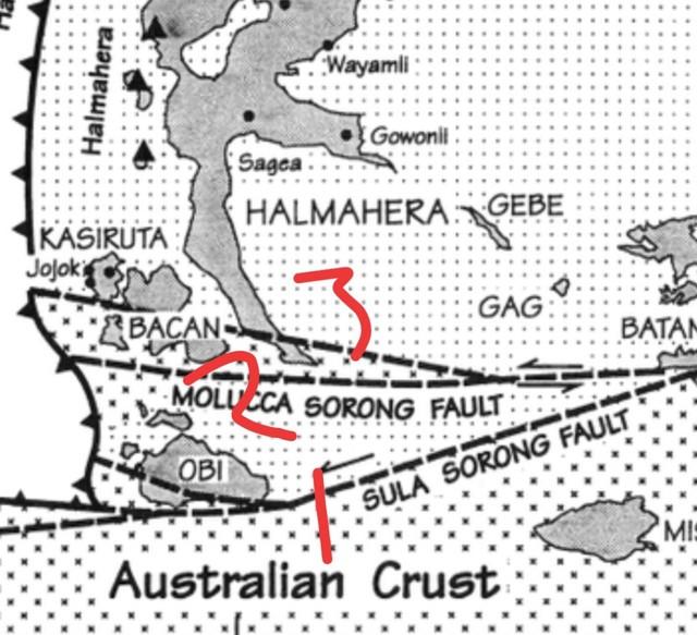 (NOT COVER) Peta gempa di Halmahera