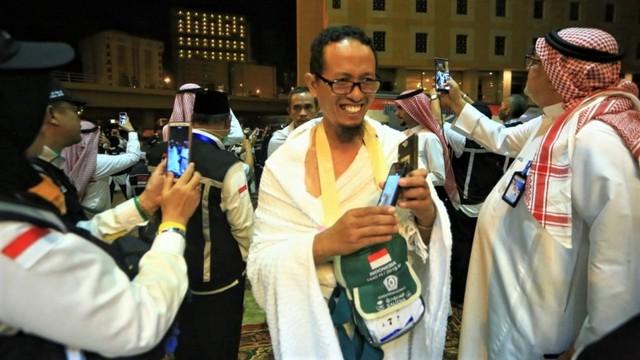 Jemaah Haji Indonesia Disambut Selawat di Makkah (571338)