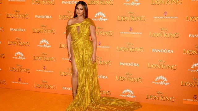 Penampilan Beyonce saat premier The Lion King