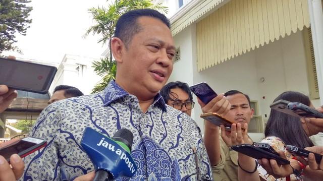 Ketua DPR Bambang Soesatyo usai bertemu Presiden Jokowi