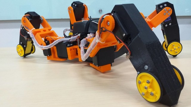 Prototipe robot pendeteksi gempa buatan mahasiswa Unika Atma Jaya.