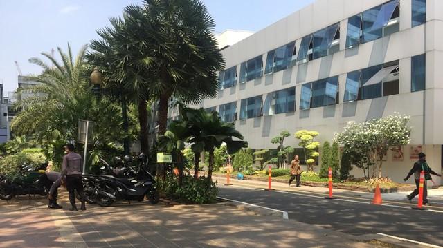 Parkiran sepeda di Balai Kota