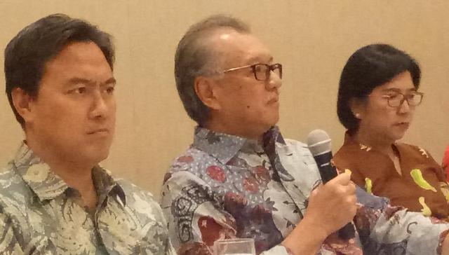 Deputi Gubernur Senior BI Destry Damayanti, Kepala LPS Halim Alamsyah, Dewan Komisioner LPS, Fauzi Ichsan.