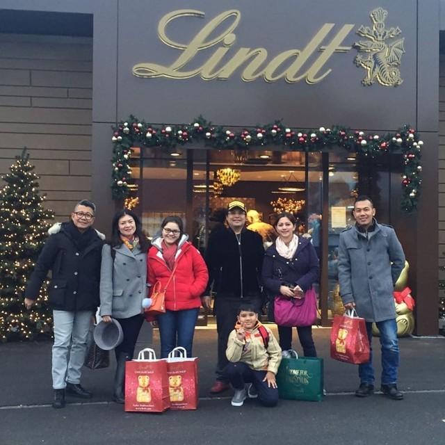 Liburan Cut Keke bersama keluarga ke Swiss