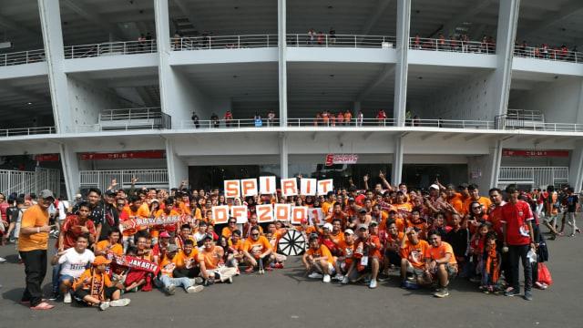 Stadion Utama GBK jelang laga final Piala Indonesia antara Persija Jakarta vs PSM Makassar