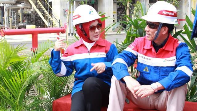 Wamen ESDM, Arcandra Tahar, Kilang Refinery, Nicke Widyawati Unit (RU) IV Cilacap, Jawa Tengah milik PT Pertamina (Persero).