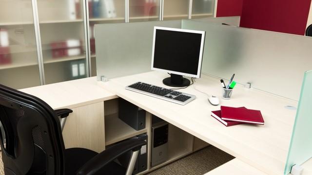 Ilustrasi meja kerja
