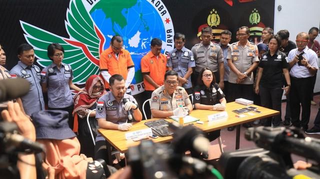 Hasil gambar untuk Press release polda kasus nunung