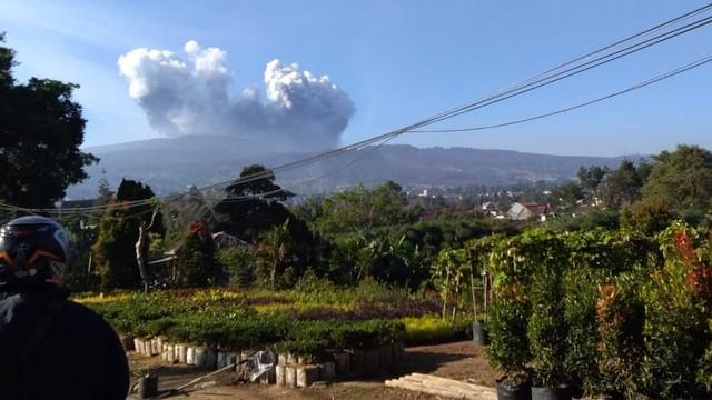 Tangkuban Parahu erupsi.