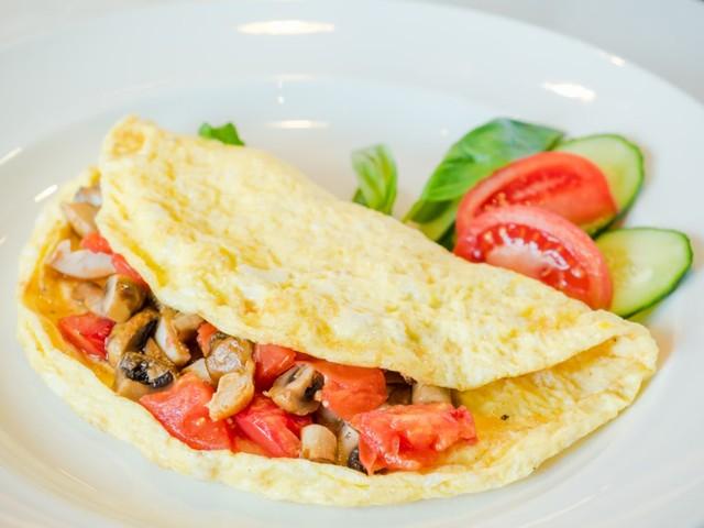 Ilustrasi omelet sayuran