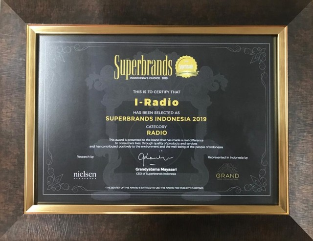 (NOT COVER) I-radio, penghargaan Superbrands Indonesia 2019, kategori Radio